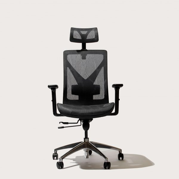 Black Cradle Deluxe Ergonomic Office Chair Front Side