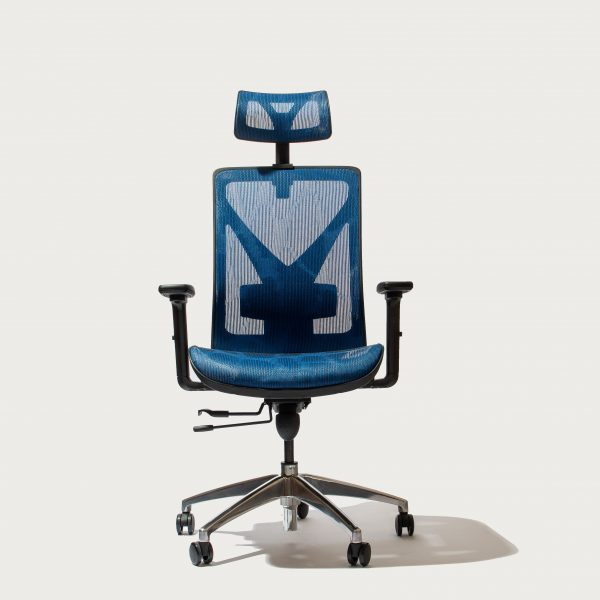Blue Cradle Deluxe Ergonomic Office Chair Front Side