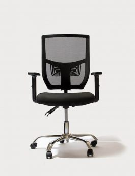 Stance Black Cradle Flexi Ergonomic Chair without Headrest Front Angle Full View