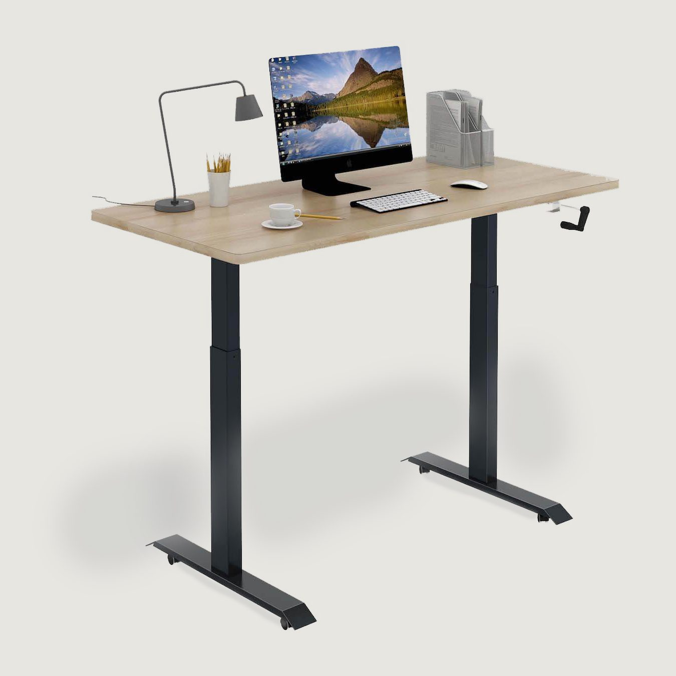 Stance Executive Manually Adjusted Full-Sized Standing Desk 45 Degree Full View