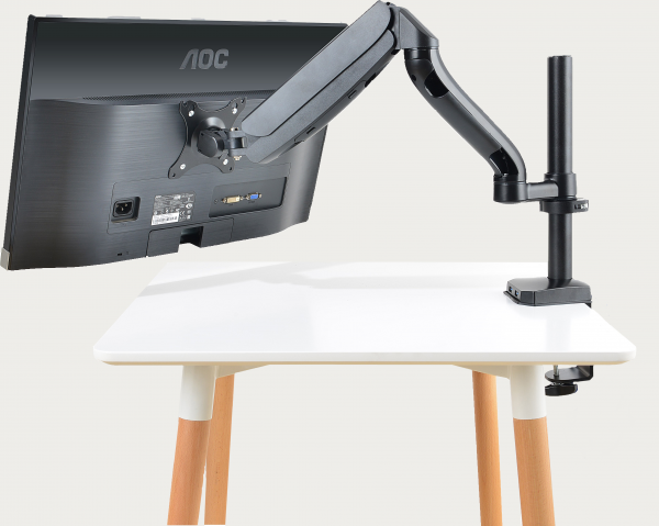 Stance EasyMount Basic Single Monitor Arm with monitor Full Back View